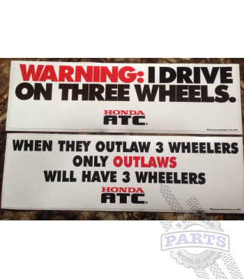 3-Wheeler Warning Stickers